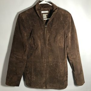 Coldwater Creek Suede Leather Zippered Jacket Sz M